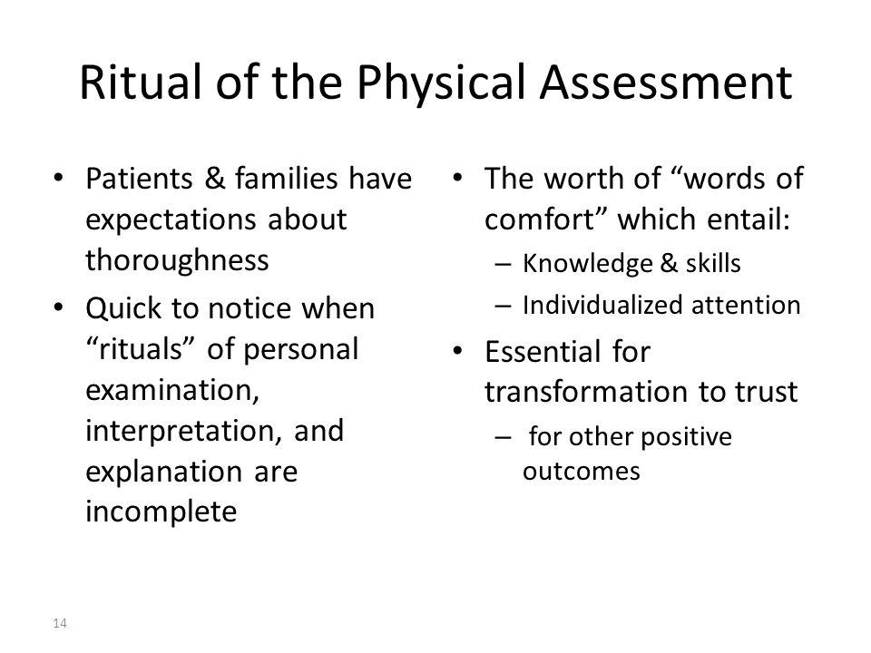Ritual of the Physical Assessment