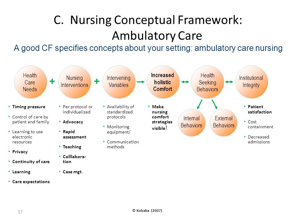 C. Nursing Conceptual Framework: Ambulatory Care