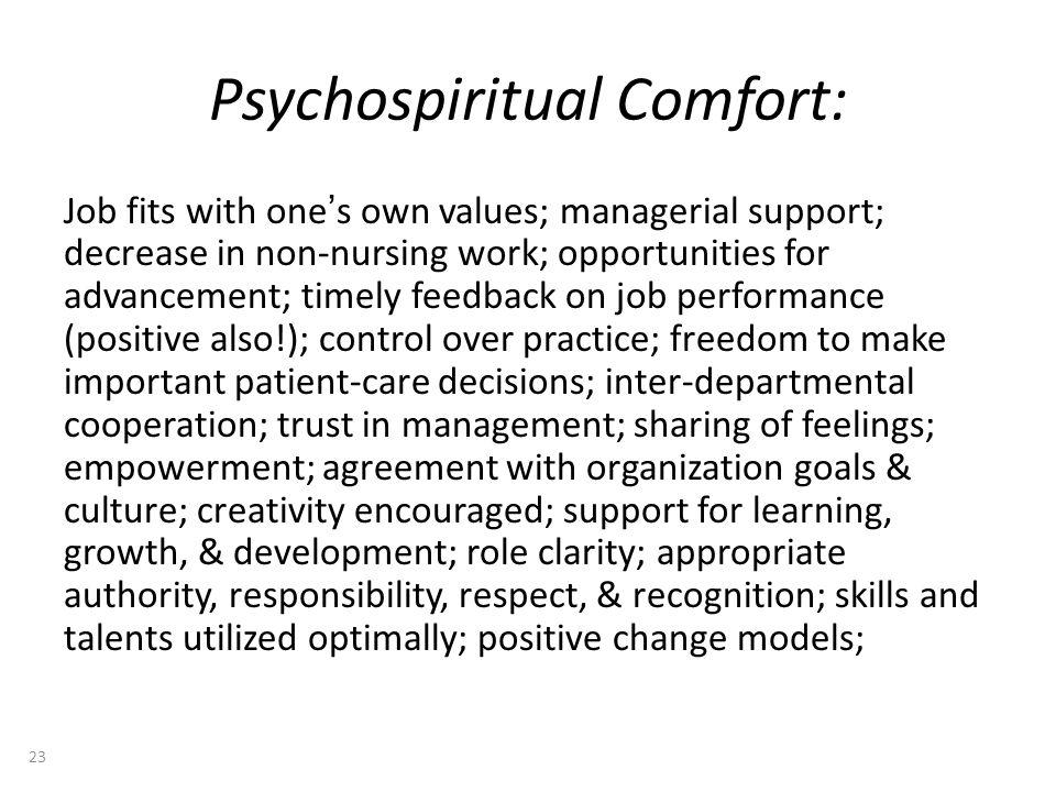 Psychospiritual Comfort: