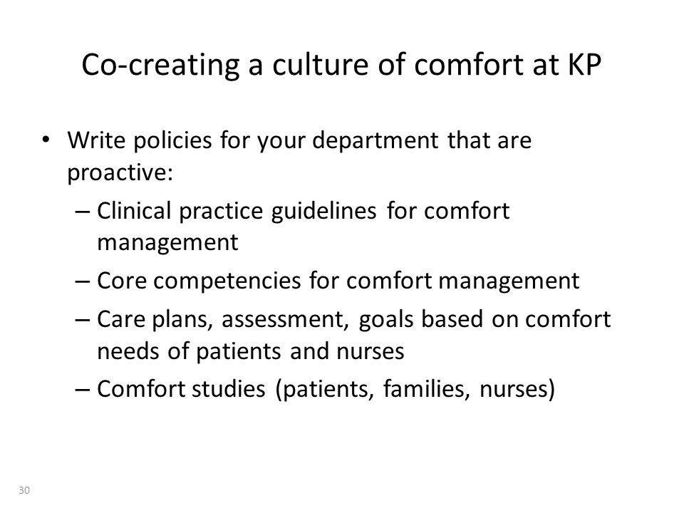 Co-creating a culture of comfort at KP