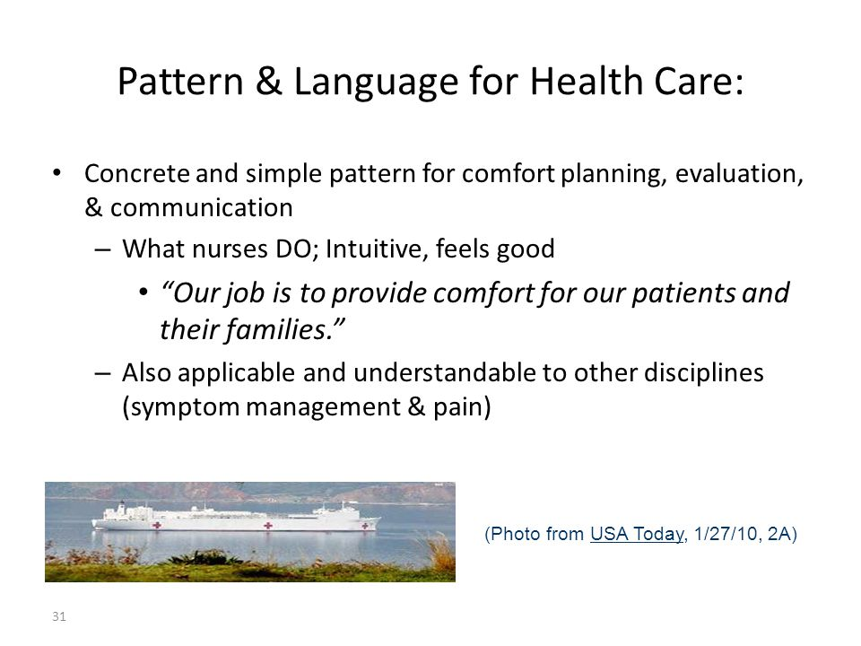 Pattern & Language for Health Care: