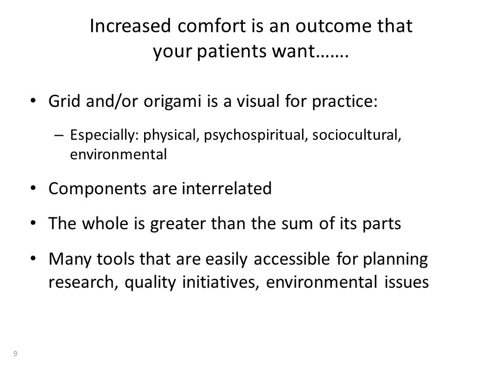 Increased comfort is an outcome that your patients want…….