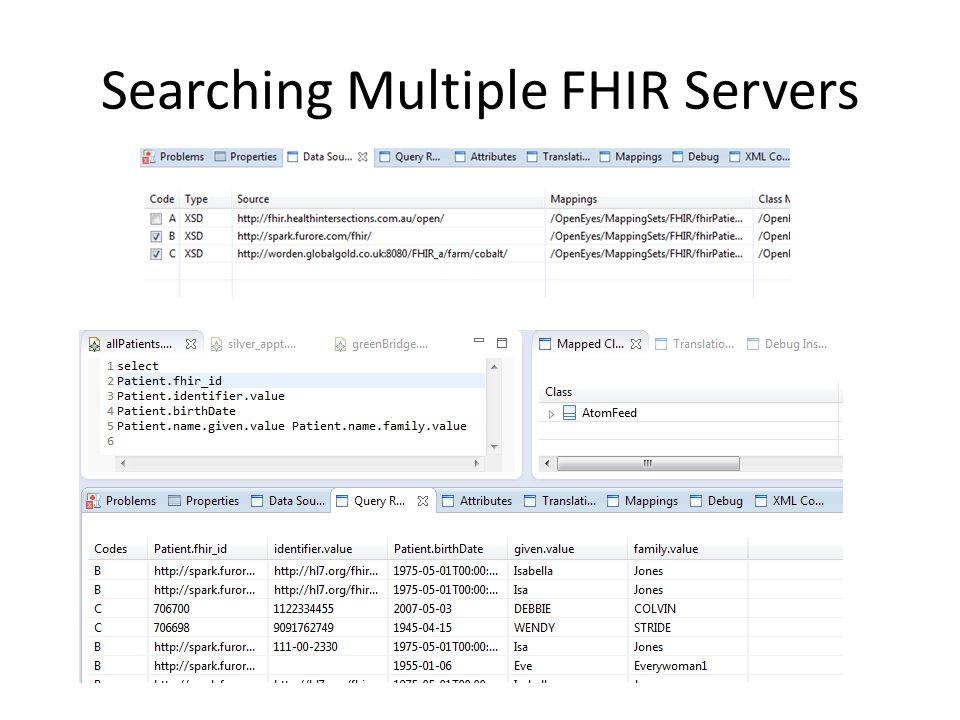 Searching Multiple FHIR Servers