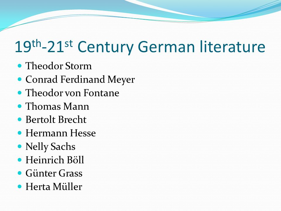 19th-21st Century German literature