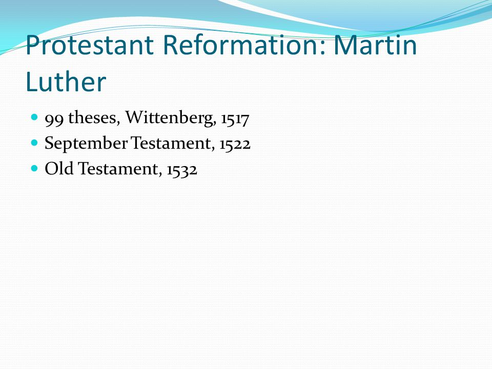 Protestant Reformation: Martin Luther