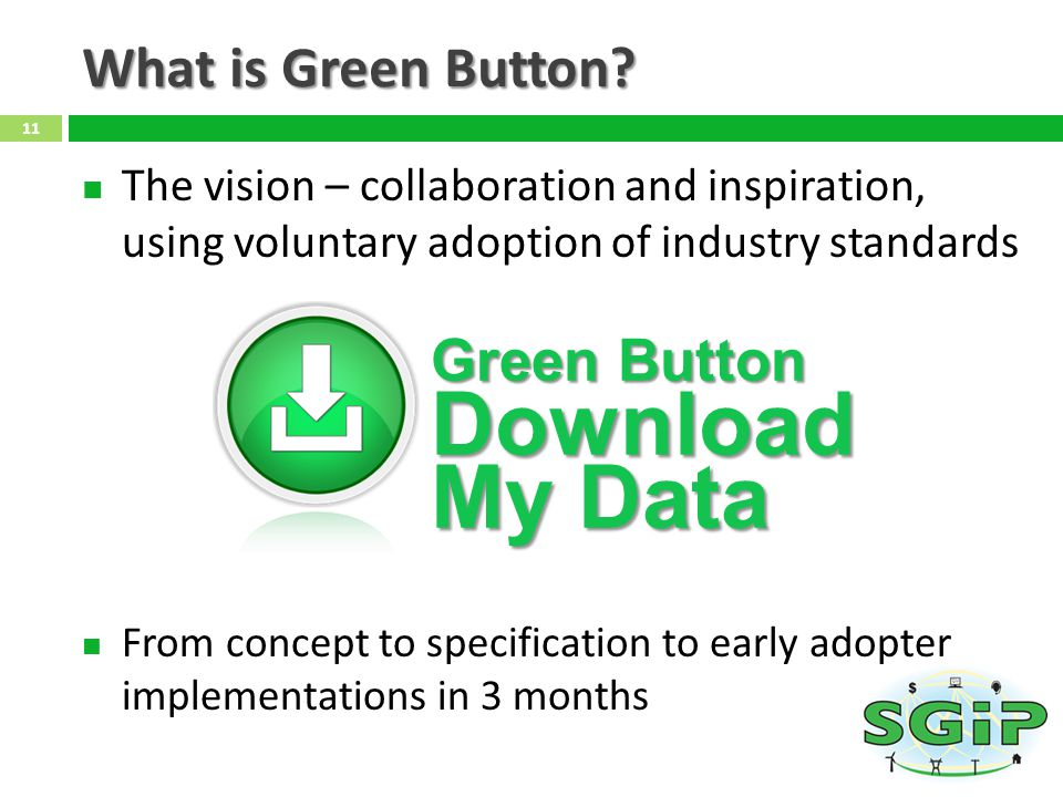 My Data What is Green Button Green Button Download