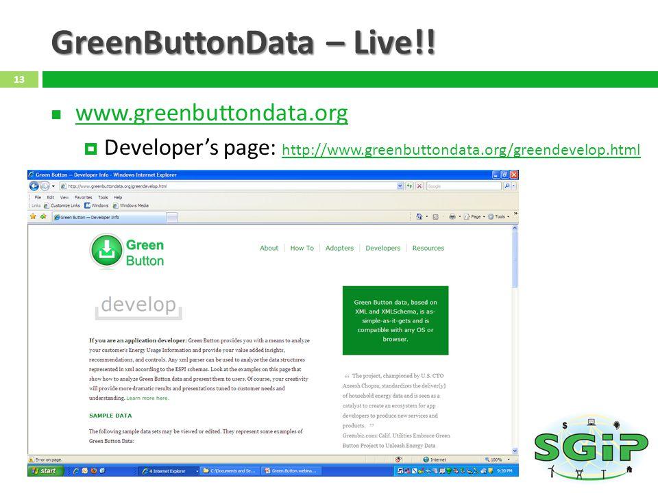 GreenButtonData – Live!!