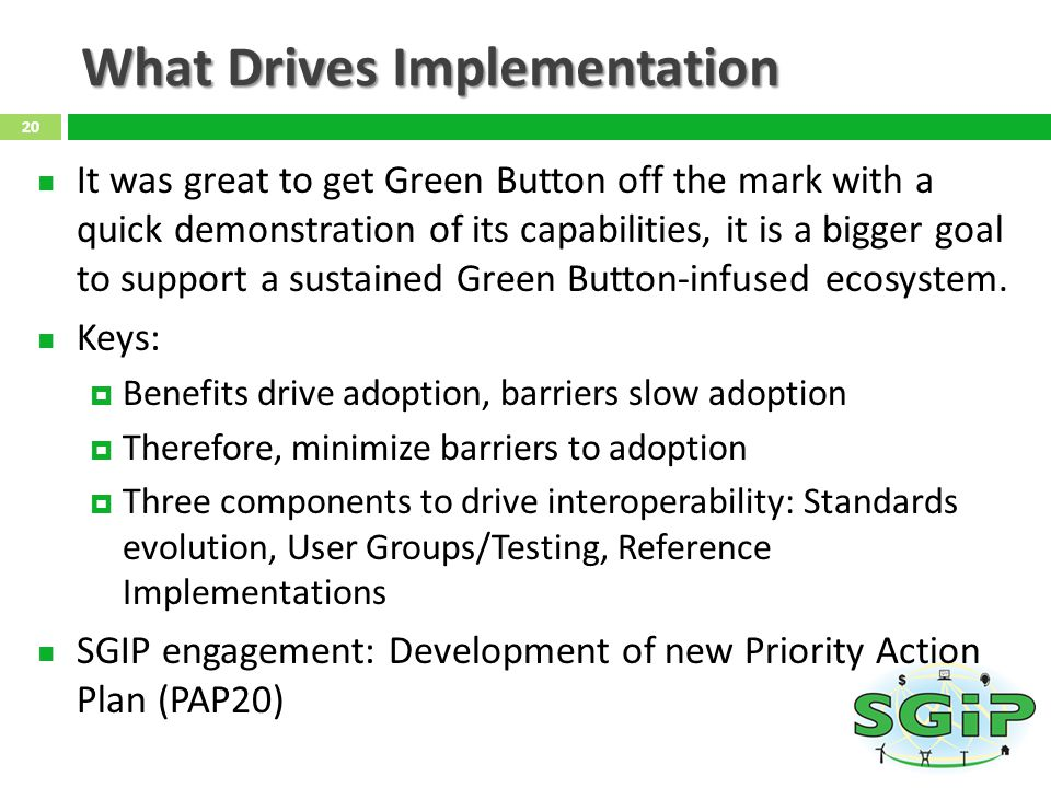 What Drives Implementation