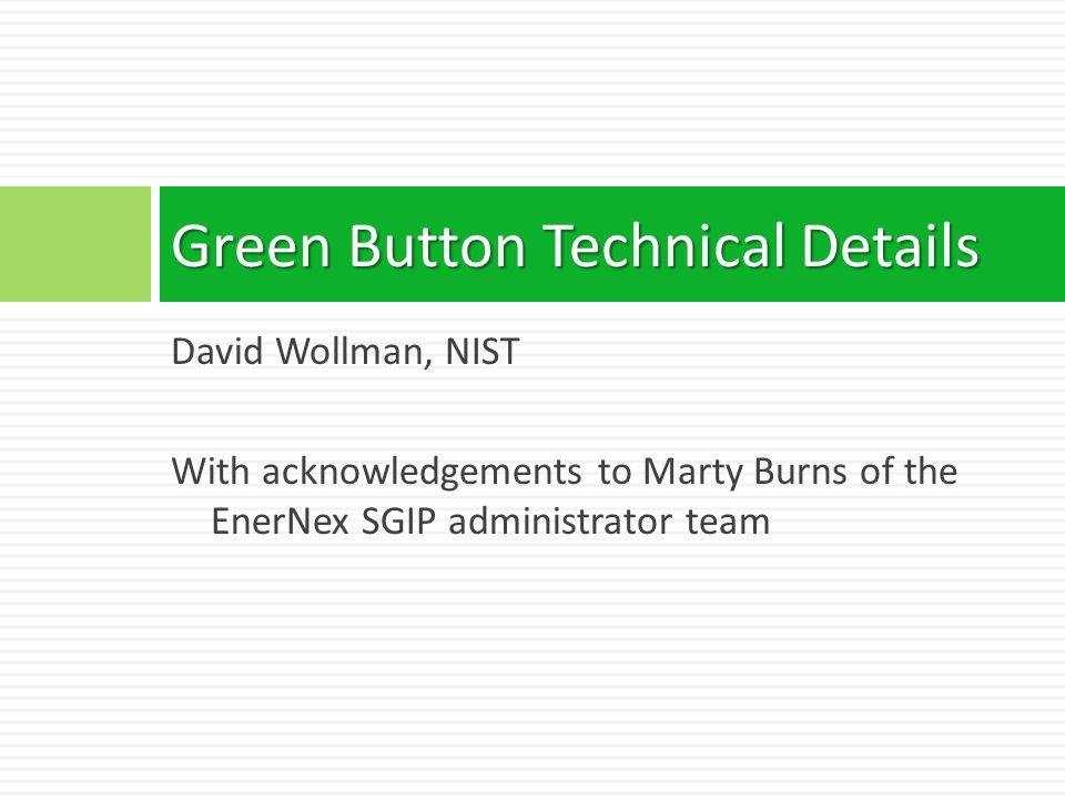 Green Button Technical Details