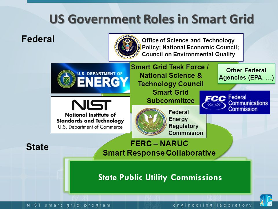 US Government Roles in Smart Grid