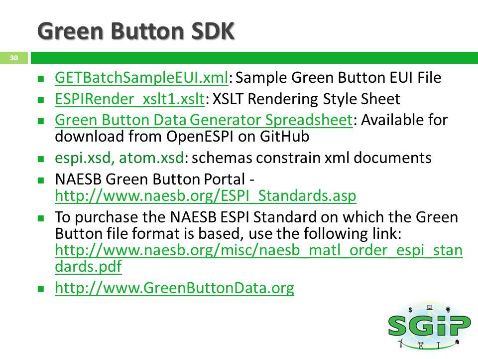 Green Button SDK GETBatchSampleEUI.xml: Sample Green Button EUI File