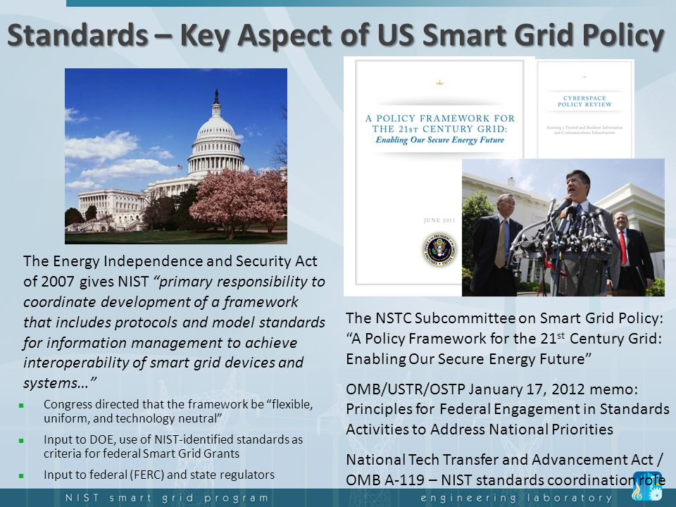 Standards – Key Aspect of US Smart Grid Policy