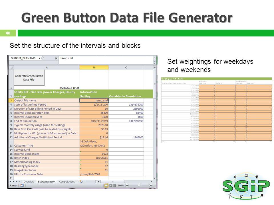 Green Button Data File Generator