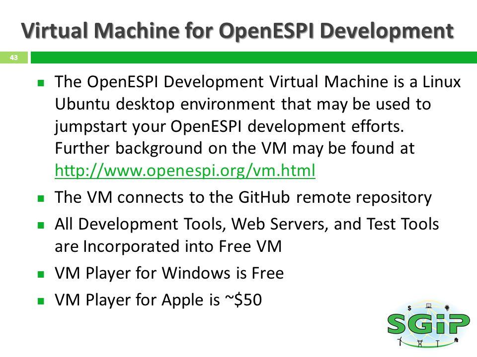 Virtual Machine for OpenESPI Development
