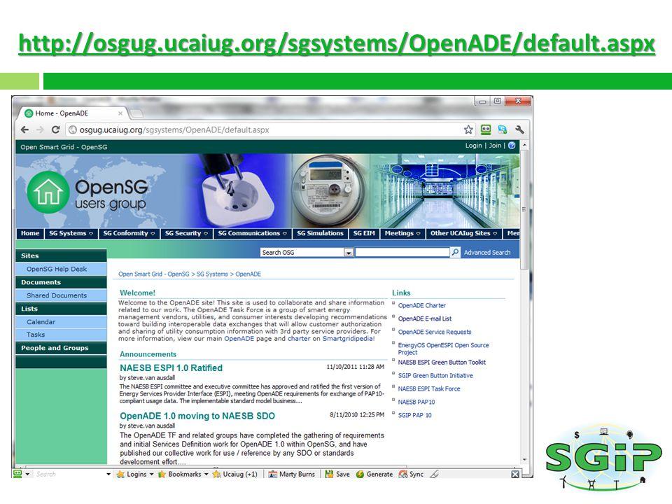 http://osgug.ucaiug.org/sgsystems/OpenADE/default.aspx