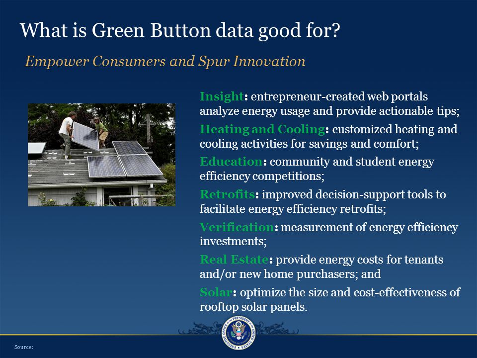 What is Green Button data good for