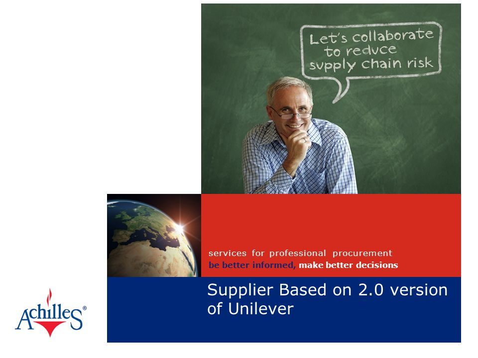 Supplier Based on 2.0 version of Unilever