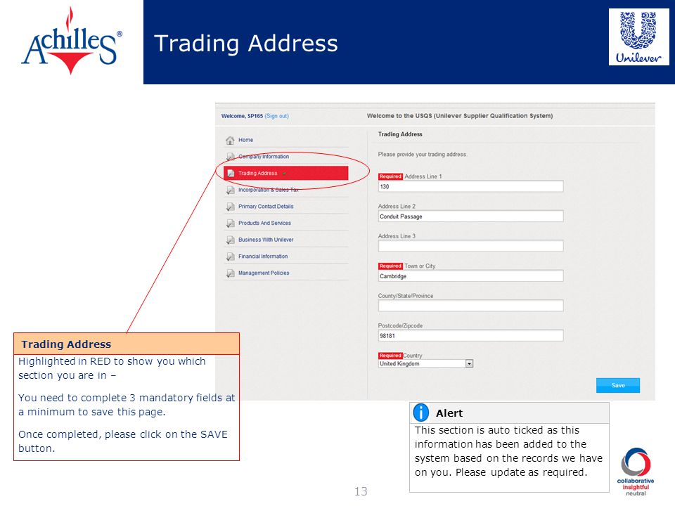 Trading Address Trading Address