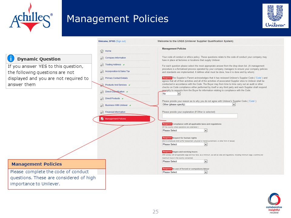 Management Policies Dynamic Question