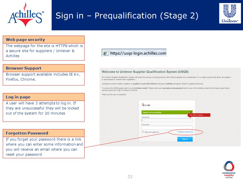 Sign in – Prequalification (Stage 2)