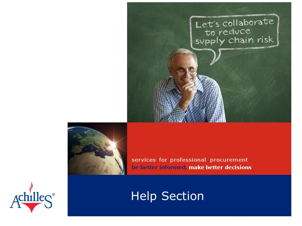 Help Section services for professional procurement