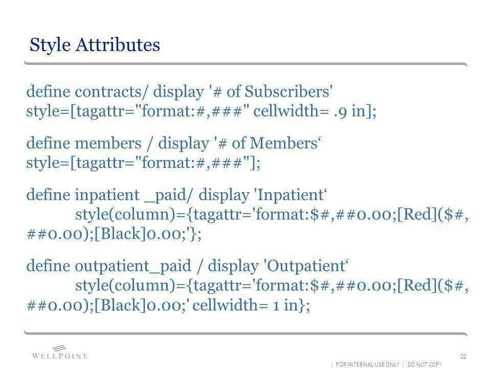 Style Attributes