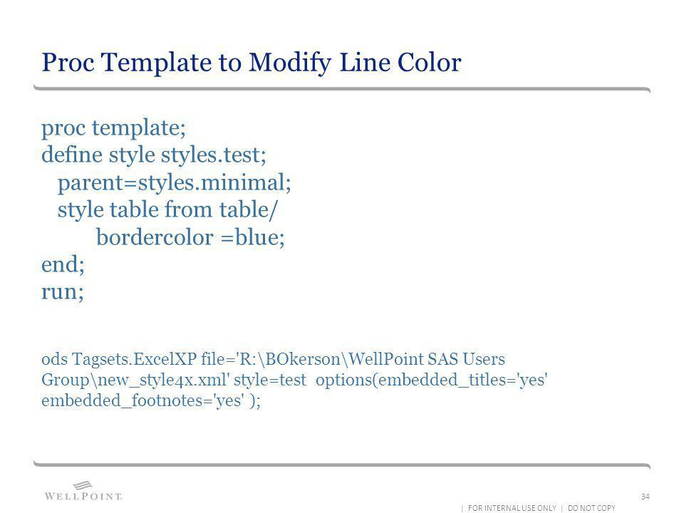 Proc Template to Modify Line Color