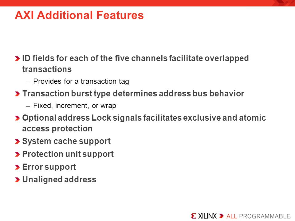 AXI Additional Features