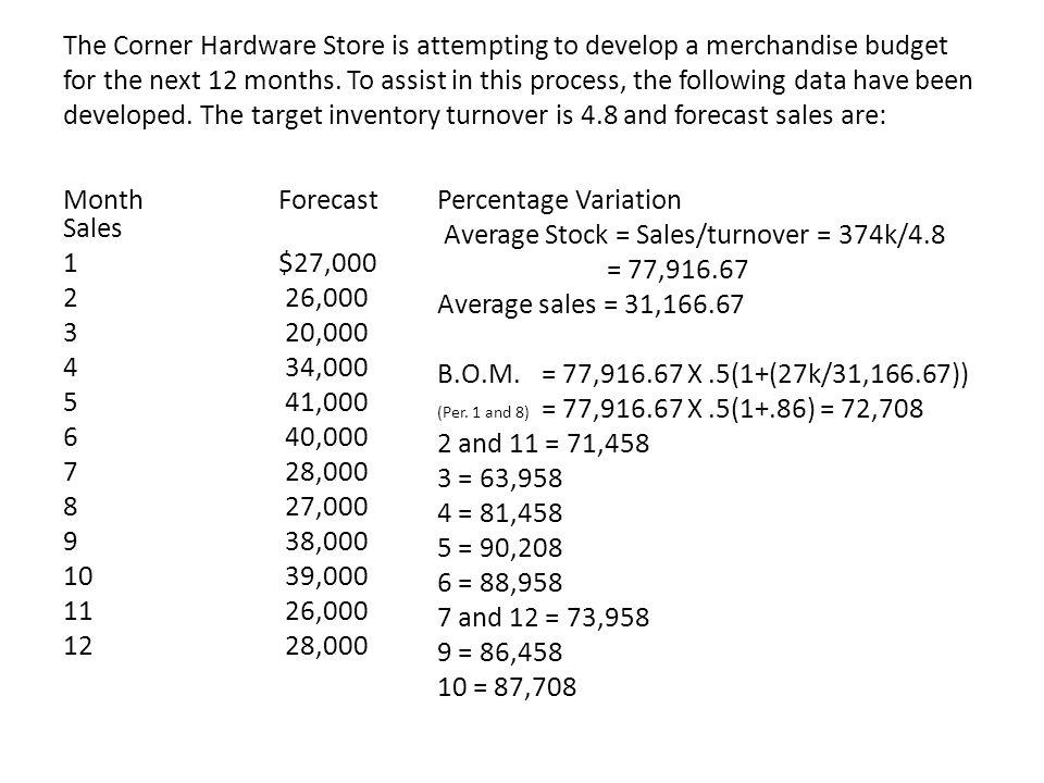 Average Stock = Sales/turnover = 374k/4.8 = 77,916.67