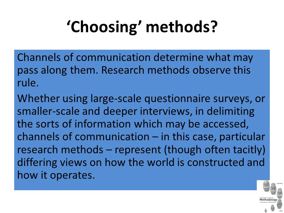 'Choosing' methods