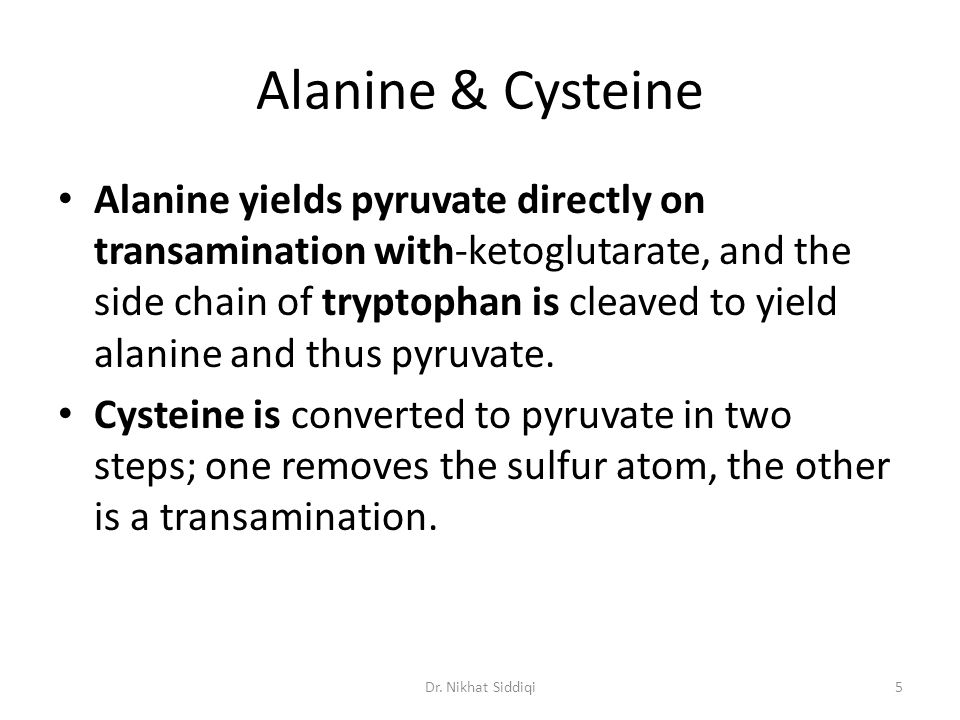 Alanine & Cysteine