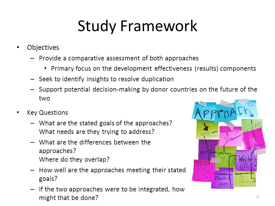 Study Framework Objectives