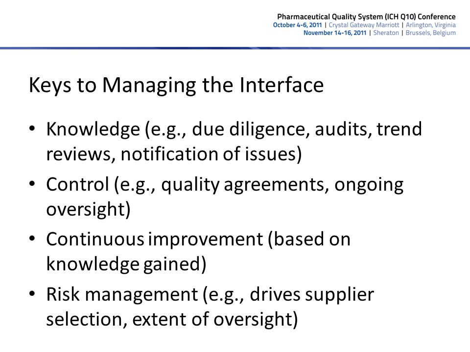 Keys to Managing the Interface