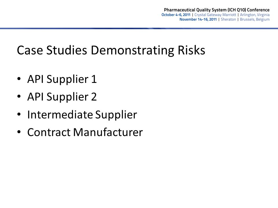 Case Studies Demonstrating Risks