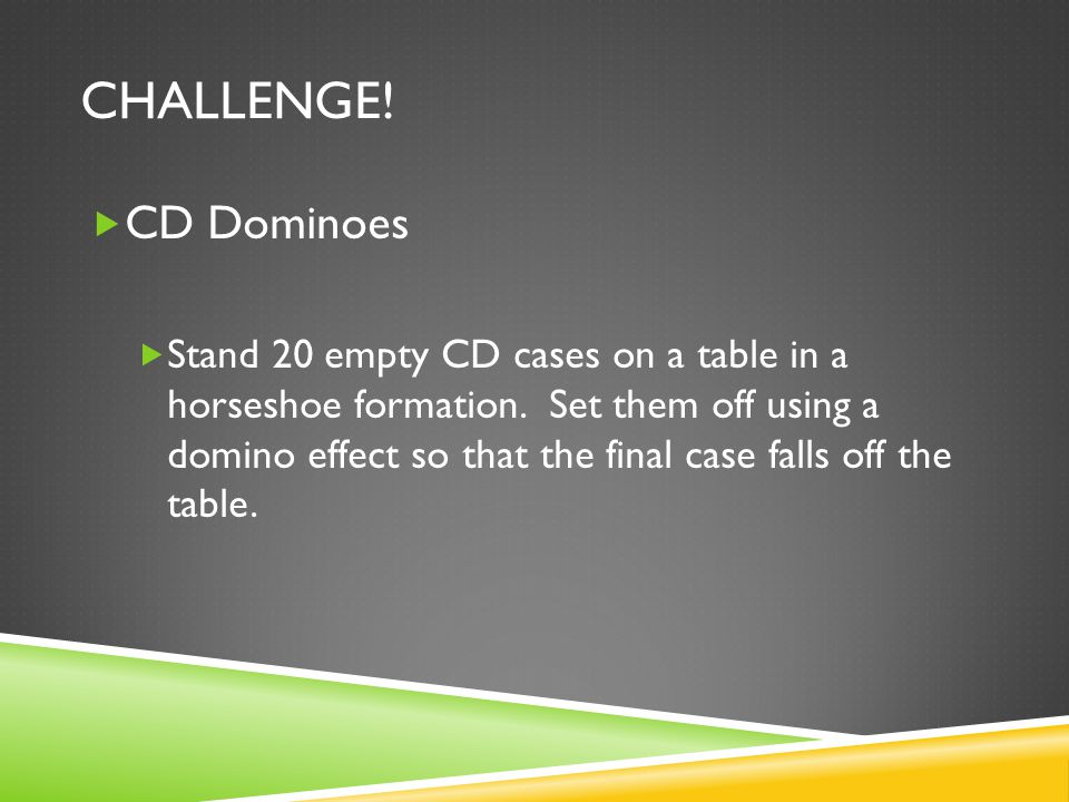 Challenge! CD Dominoes.