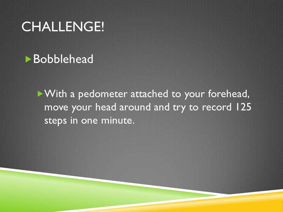 Challenge. Bobblehead.