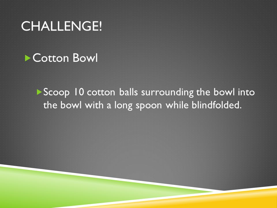 Challenge. Cotton Bowl.
