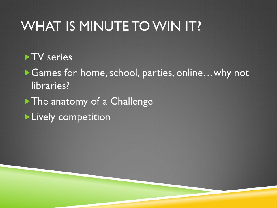What is minute to win it TV series