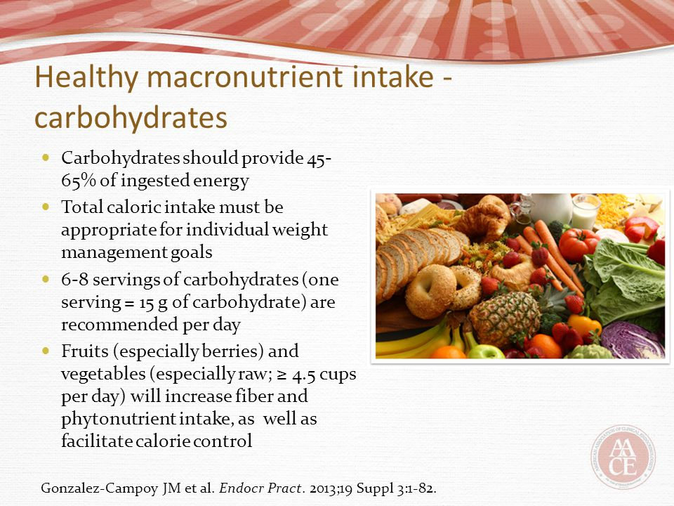 Healthy macronutrient intake - carbohydrates