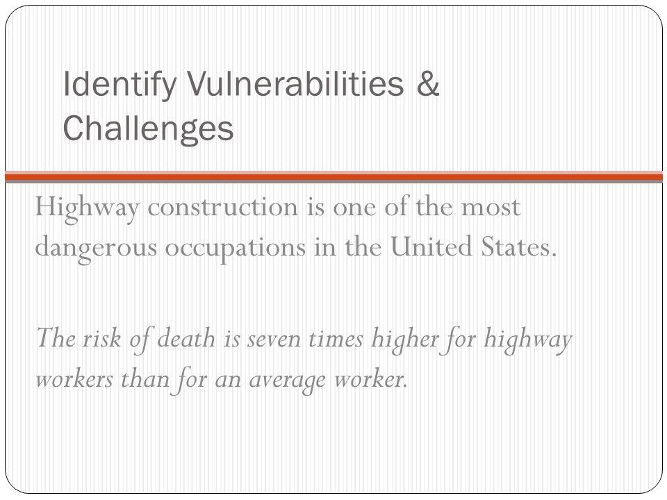 Identify Vulnerabilities & Challenges