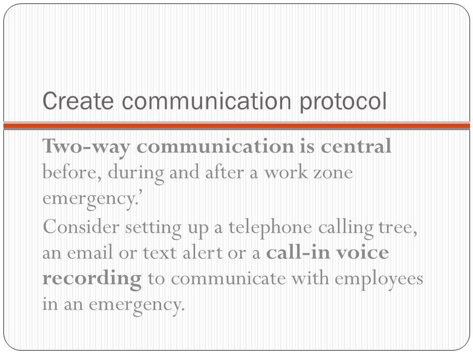 Create communication protocol