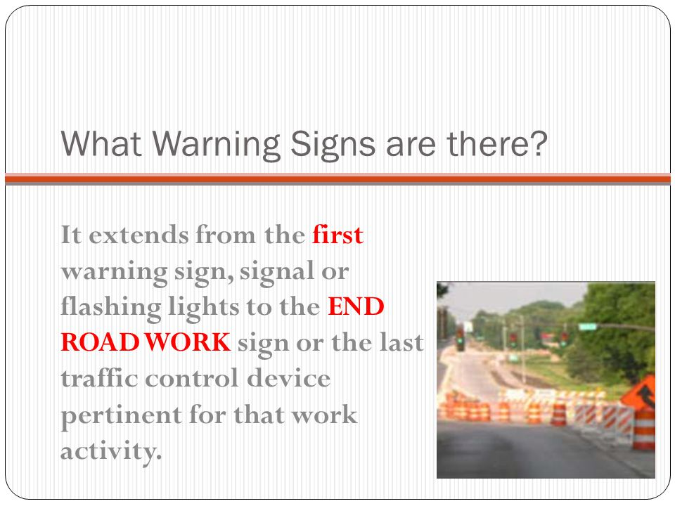 What Warning Signs are there
