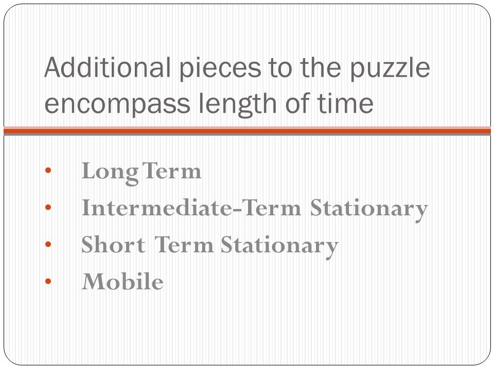 Additional pieces to the puzzle encompass length of time