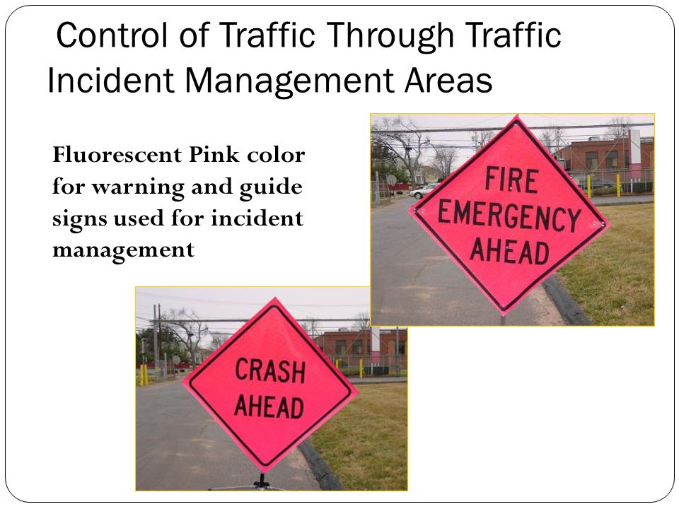 Control of Traffic Through Traffic Incident Management Areas
