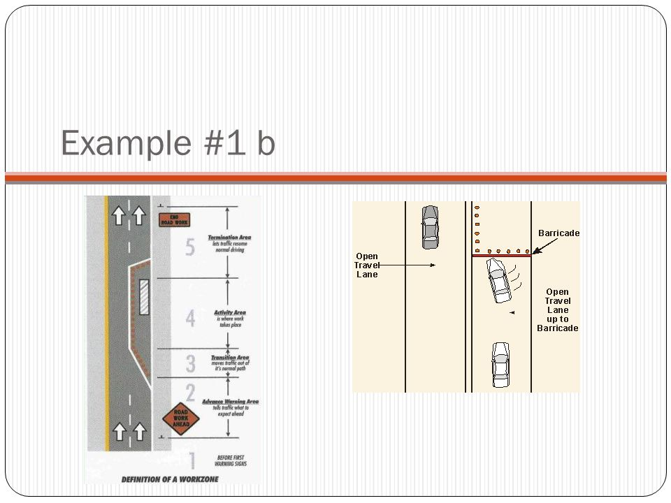 Example #1 b This slide shows where in the work zone the crash occurred
