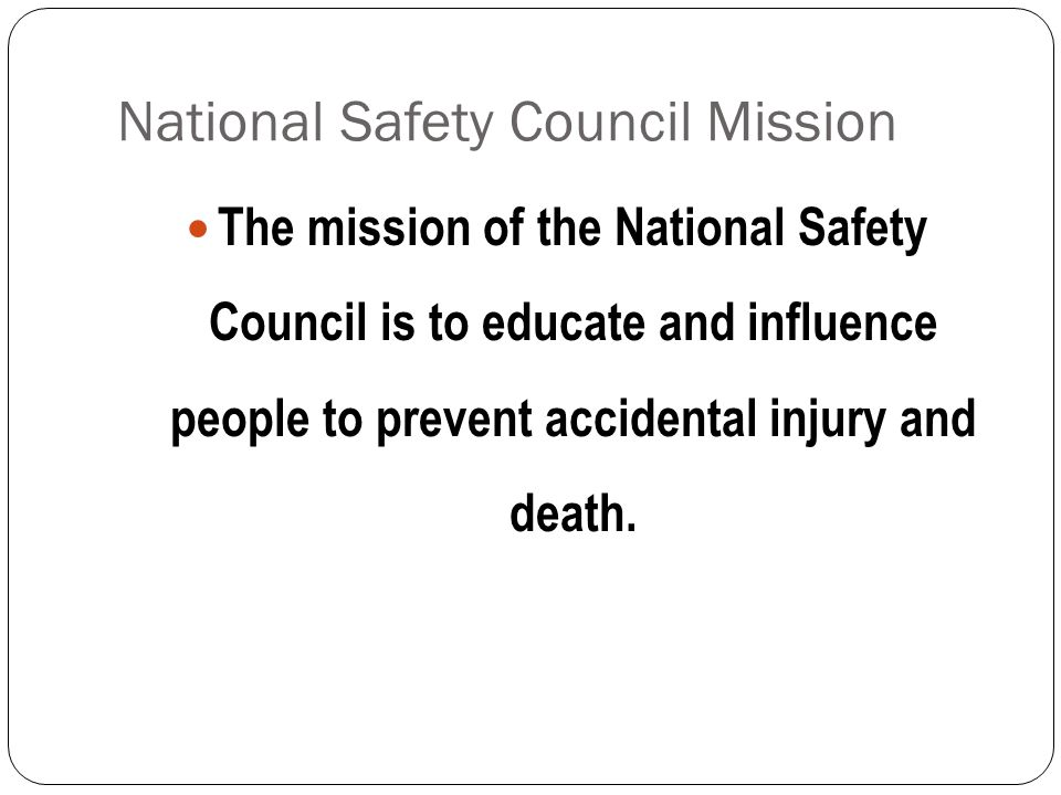 National Safety Council Mission