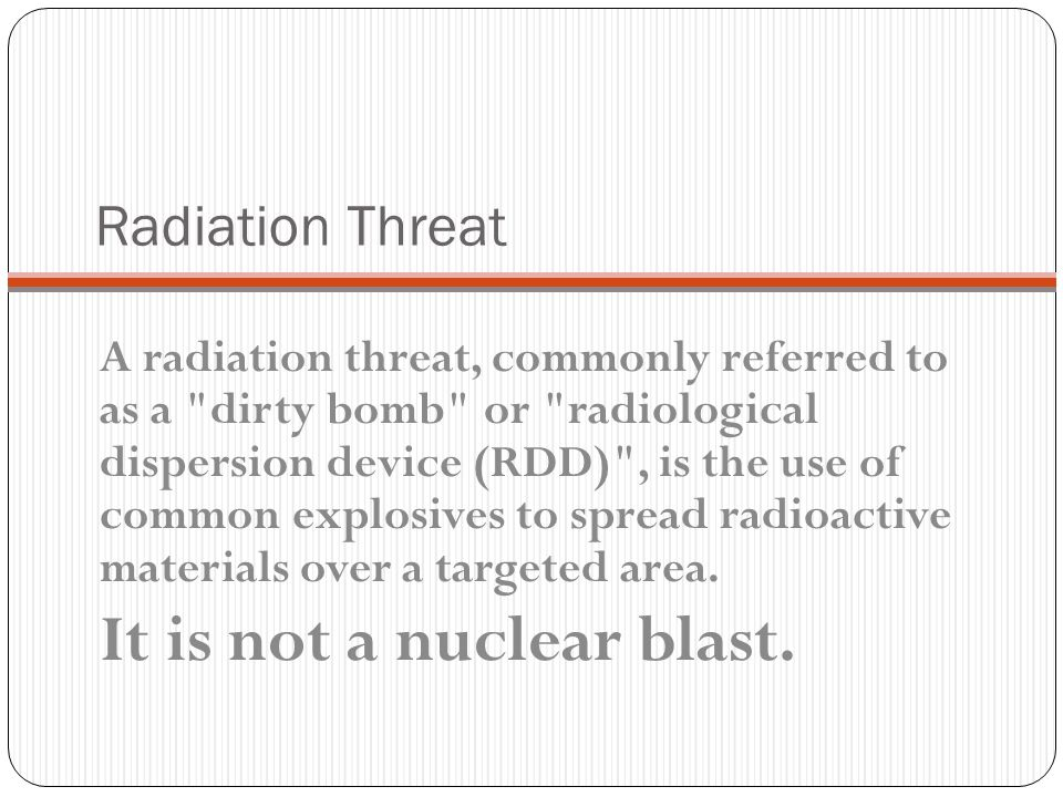 It is not a nuclear blast.