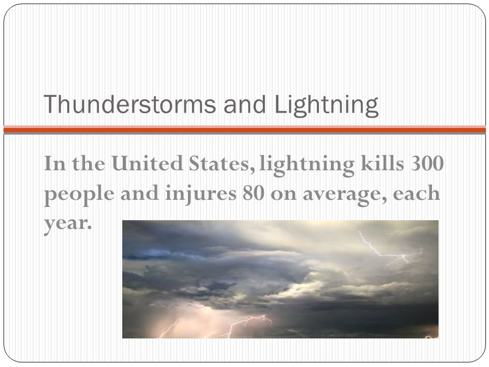 Thunderstorms and Lightning