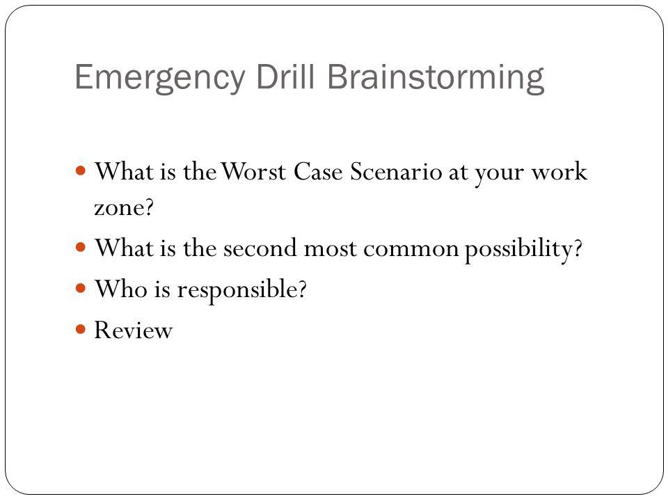 Emergency Drill Brainstorming