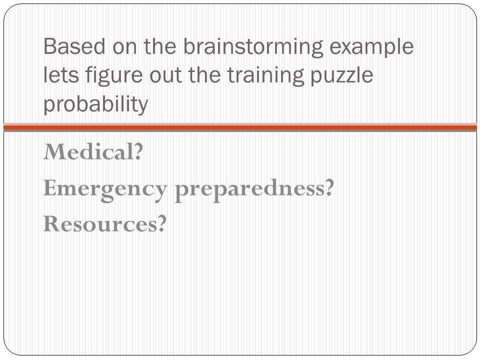 Emergency preparedness Resources